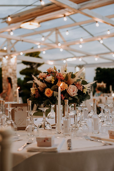 Wedding dinner table decoration