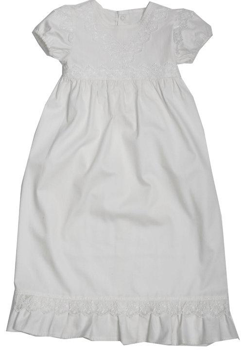 Крестильное платье с панамой (белое)