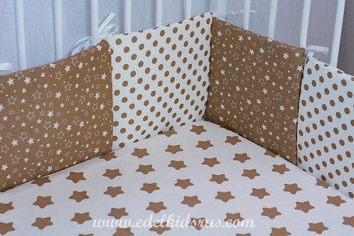 Бортик для детской кроватки 12 частей