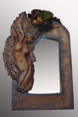 square angel mirror 12x8x2