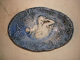 Oval Dish Cupid Lady Maz.JPG