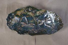 Fry Dish 2 Dragonflies Glazed.JPG