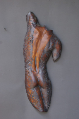male back textured 24x12in