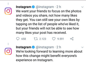 Instagram - Liking the new change