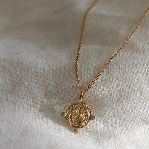 Collier pendentif Grec - plaqué or