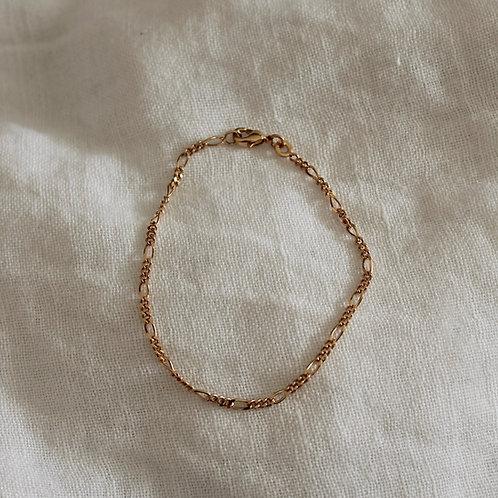 Bracelet chaine gourmette - plaqué or