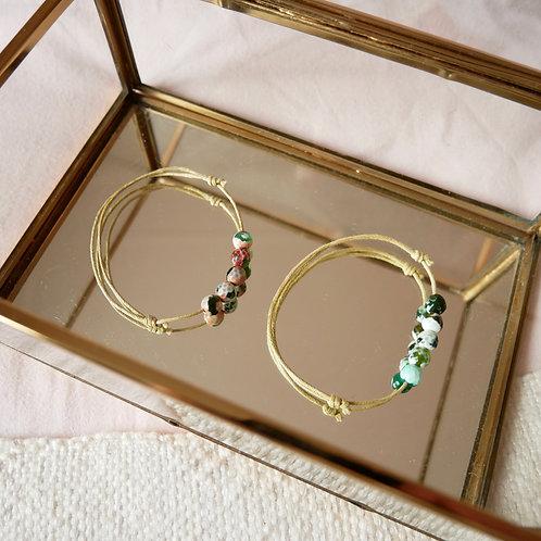 Les bracelets 5 perles d'Agate