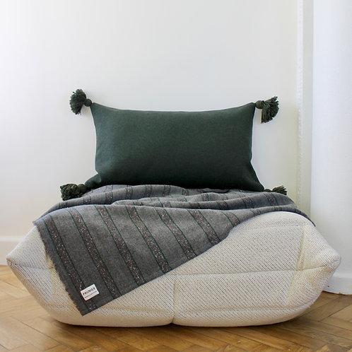 Maxi housse de coussin rectangle lainage vert