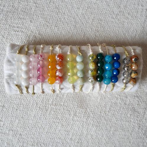 Les bracelets 4 perles d'Agate