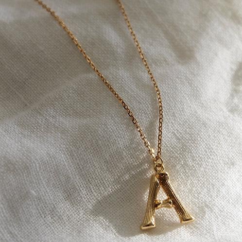 Collier pendentif Lettre - plaqué or