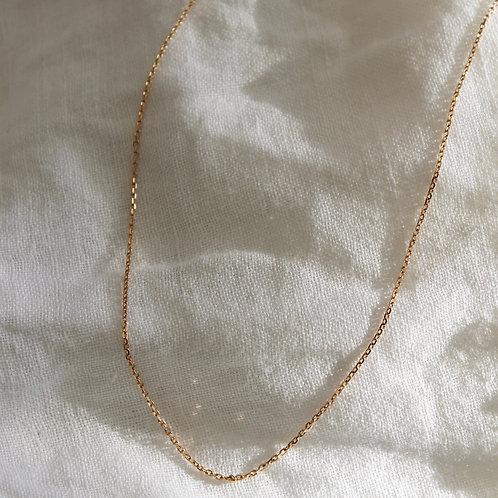 Collier chaine classique - plaqué or - 2 tailles (sans pendentif)