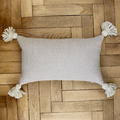 Housse de coussin rectangle en lin naturel