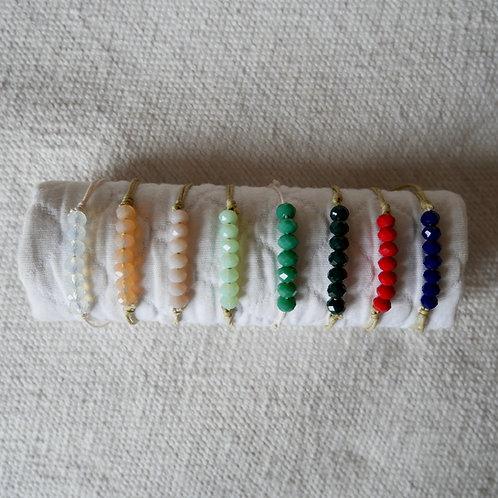 Les bracelets perles à facettes