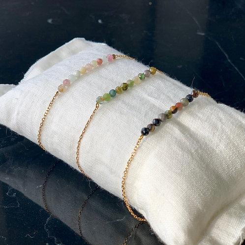 Bracelet Tourmaline et chaine classique