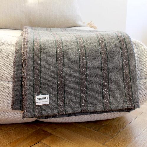 Plaid en laine à rayures
