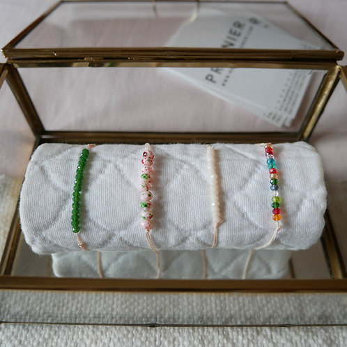 Les bracelets perles à facettes fines