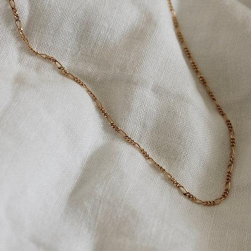Collier chaine gourmette - plaqué or (sans pendentif)
