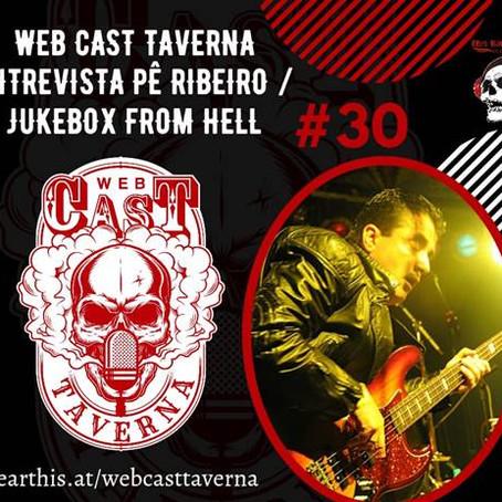 """Jukebox From Hell: confira entrevista completa de Pê Ribeiro ao canal """"Web Cast Taverna"""""""