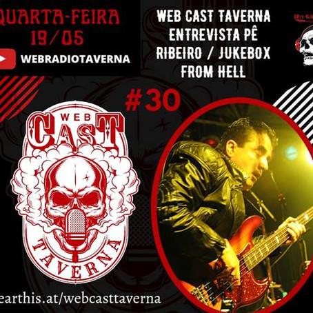 """Jukebox From Hell:  Pê Ribeiro é o entrevistado do programa """"Web Cast Taverna"""" nesta quarta-feira!"""