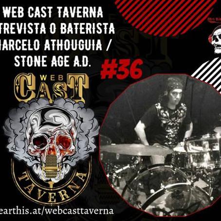 "Stone Age A.D.: confira a entrevista do baterista Marcelo Athouguia ao canal ""Web Cast Taverna"""
