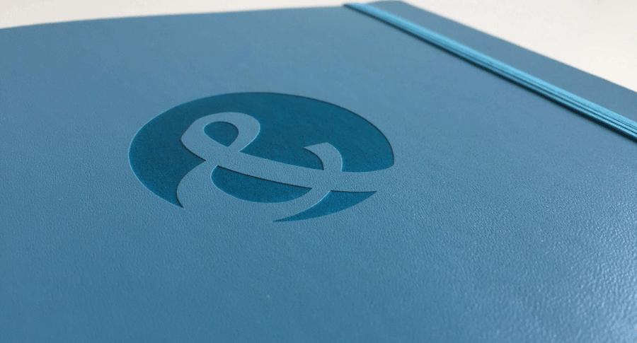 Logogravur auf hochwertigen Notizbüchern - Notizgold