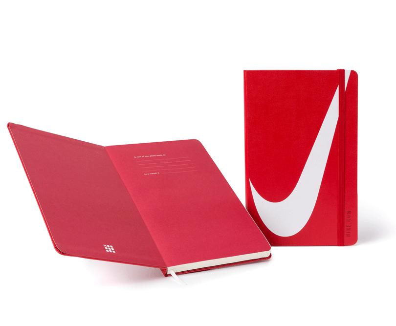 Notizbuch von Moleskine mit Digitaldruck für Nike - Notizgold