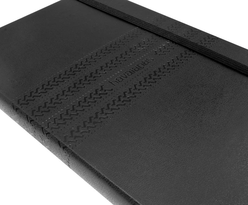 Moleskine Notizbuch mit Prägung von Havaianas - Notizgold