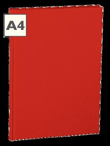 A4 Notizbuch von Semikolon in der Farbe Red