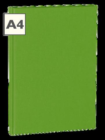 A4 Notizbuch von Semikolon in der Farbe Lime