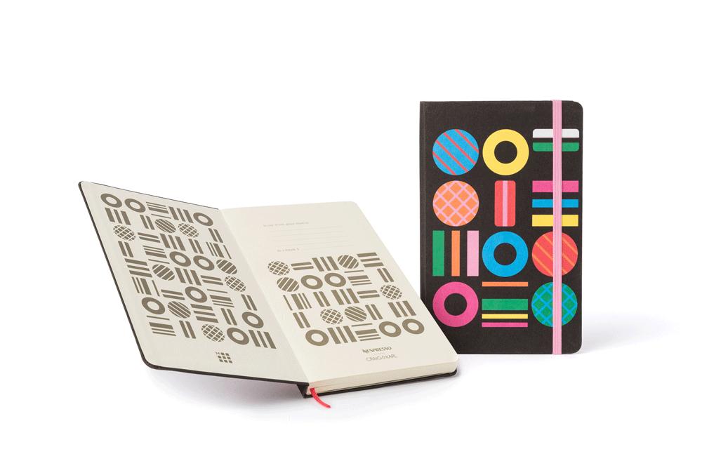 Notizbuch veredelt durch Digitaldruck Nespresso - Notizgold