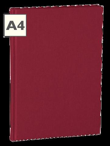 A4 Notizbuch von Semikolon in der Farbe Burgundy
