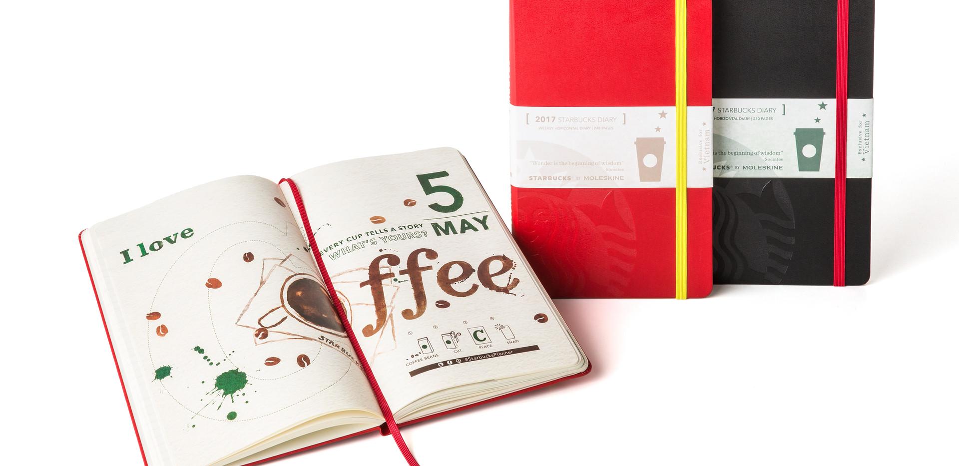 Prägung zur Veredelung der Starbucks-Notizbücher - Notizgold