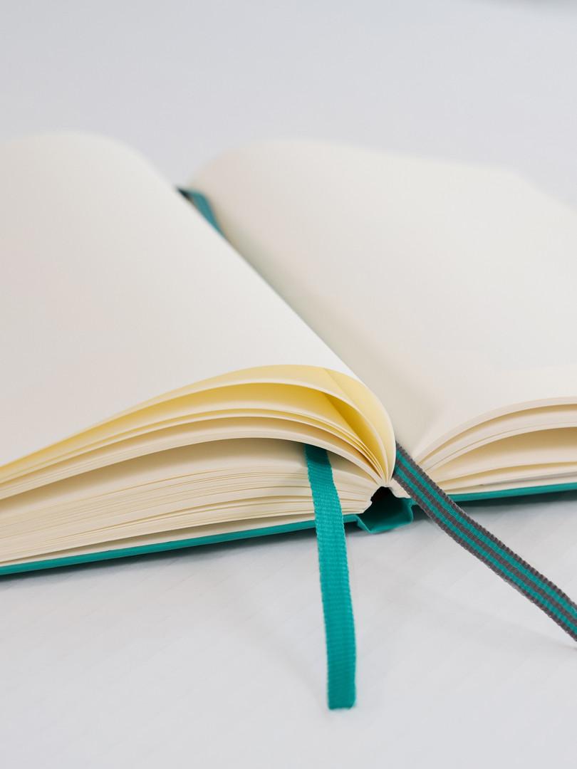 Aufgeschlagenes Notizbuch von Leuchtturm1917 - Notizgold