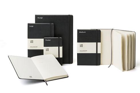 Moleskine Notizbücher in verschiedenen Formaten und Farben bei Notizgold