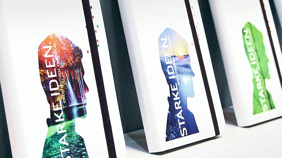 Notizbuch veredelt durch Digitaldruck Starke Ideen - Notizgold