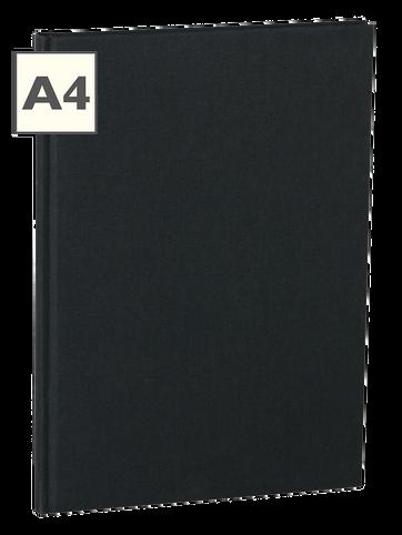 A4 Notizbuch von Semikolon in der Farbe Black