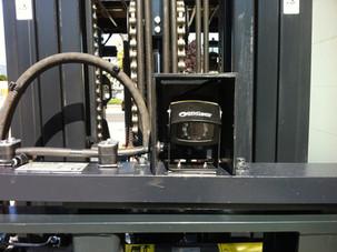 Gabelstapler Zubehör: Gabelzinkenkamera am Kistendrehgerät - Hahnen