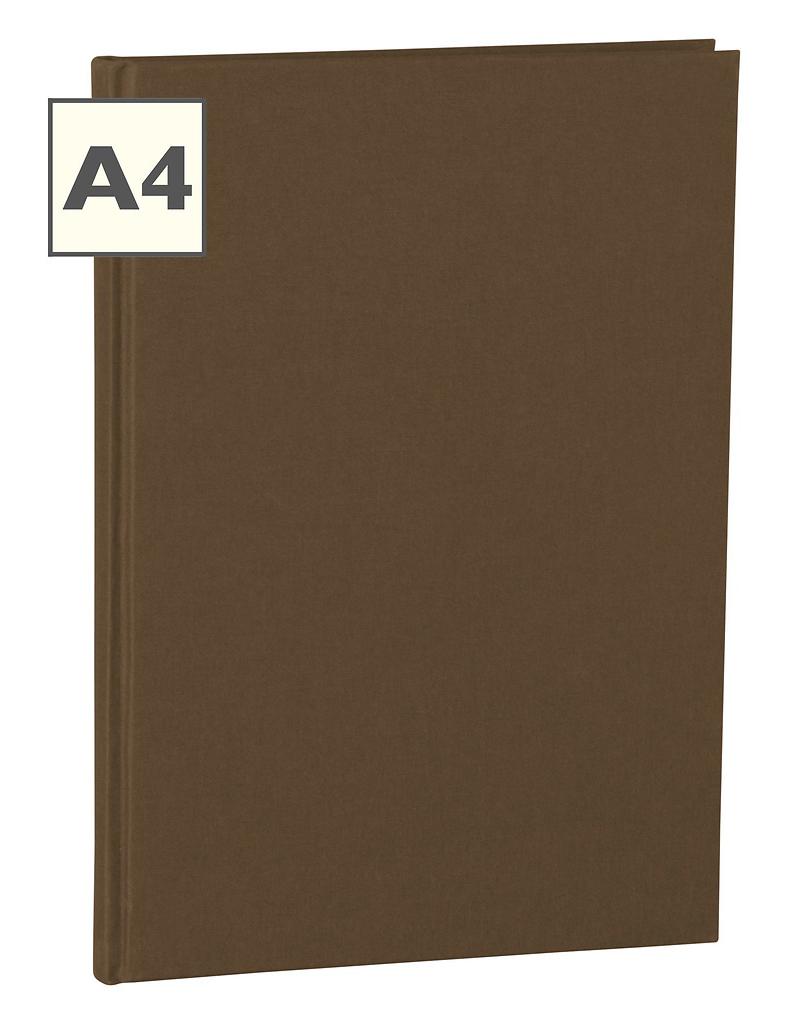 A4 Notizbuch von Semikolon in der Farbe Brown