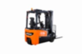 Elektrischer Gabelstapler neu von DOOSAN für 2,2 bis 3,5 Tonnen - Hahnen Gabelstapler in Kempen am Niederrhein.