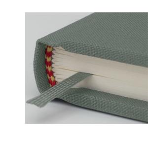 Hochwertige Heftung & Lesezeichen - Semikolon bei Notizgold