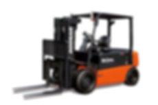 Neuen DOOSAN Elektro Gabelstapler für 4 bis 5 Tonnen kaufen – bei Hahnen Gabelstapler für den Niederrhein und ganz NRW.