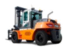 Außenansicht vom neuen Diesel Gabelstapler von DOOSAN von 10 bis 16 Tonnen - Hahnen Gabelstapler Kempen am Niederrhein.