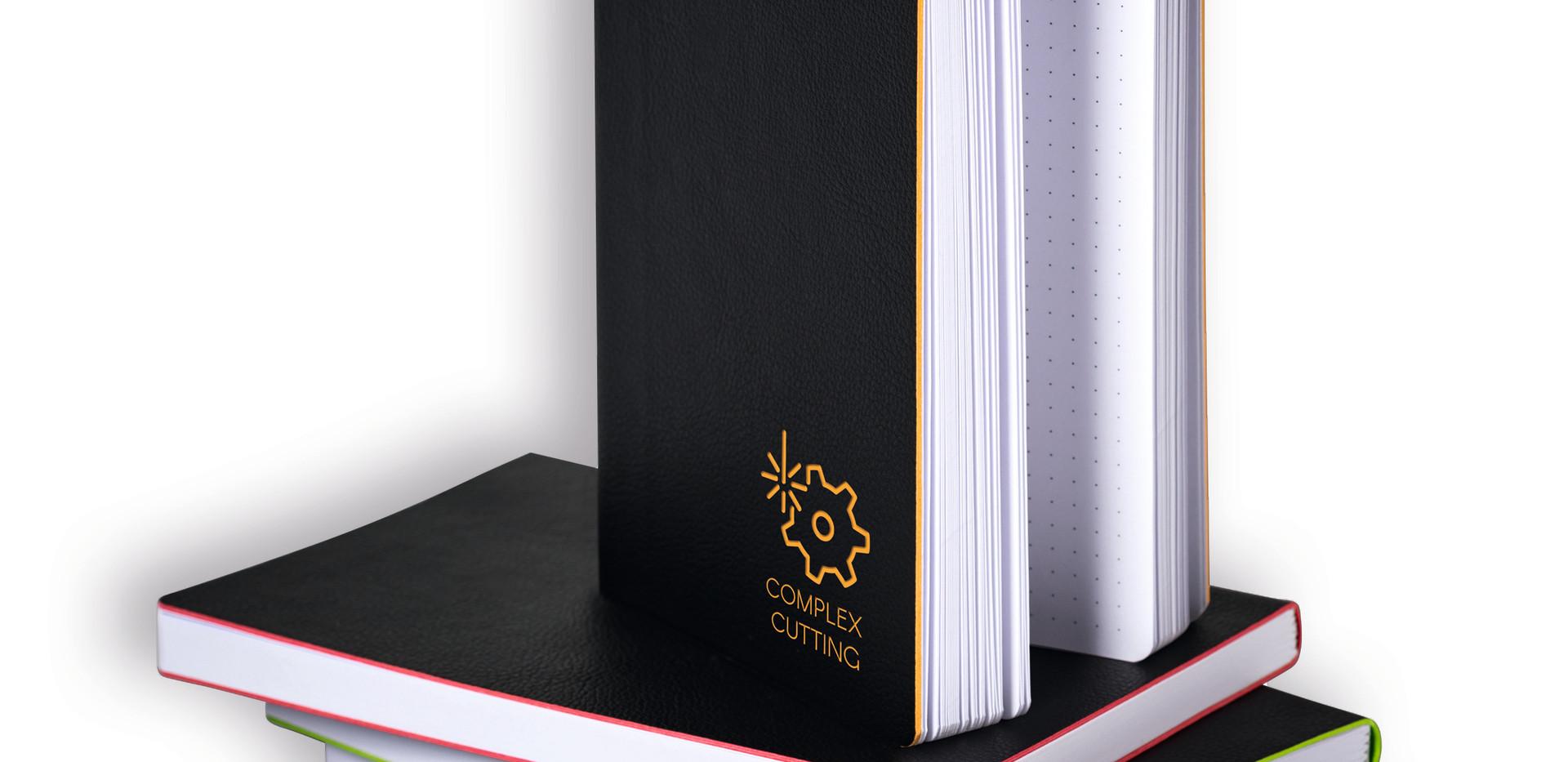 Brunnen Notizbuch mit Lasergravur - Notizgold