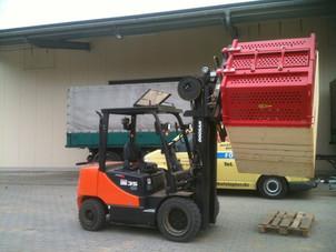 Hahnen Kontruktion: Kistenwender KD360-1600 für das Entfernen von Kartoffelkeimen