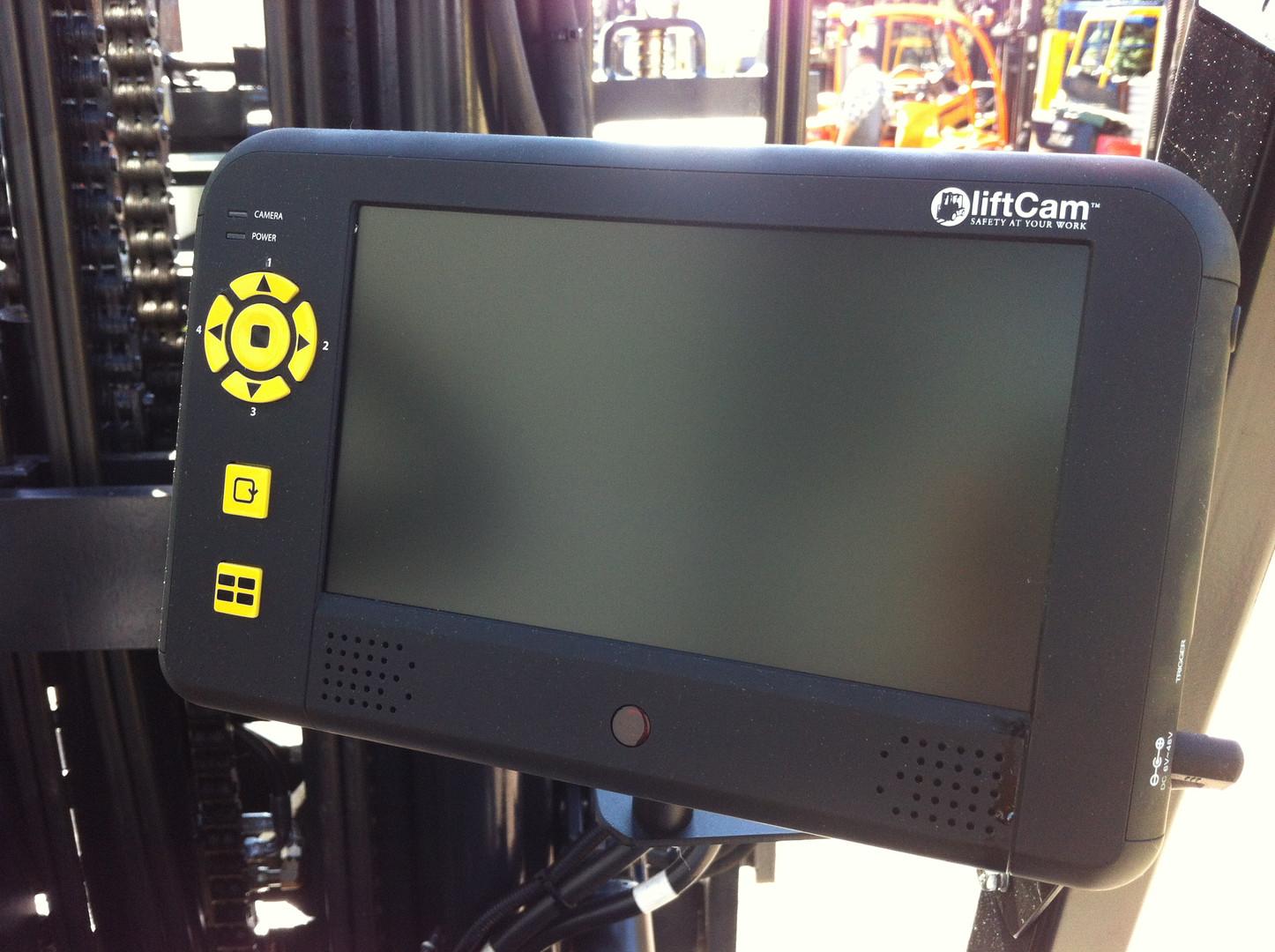 Monitor der Gabelzinkenkamera zur Überwachung - Gabelstapler Technik Hahnen
