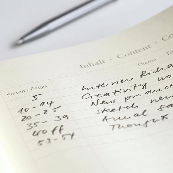 Inhaltsverzeichnis der Notizbücher von Leuchtturm1917 - Notizgold