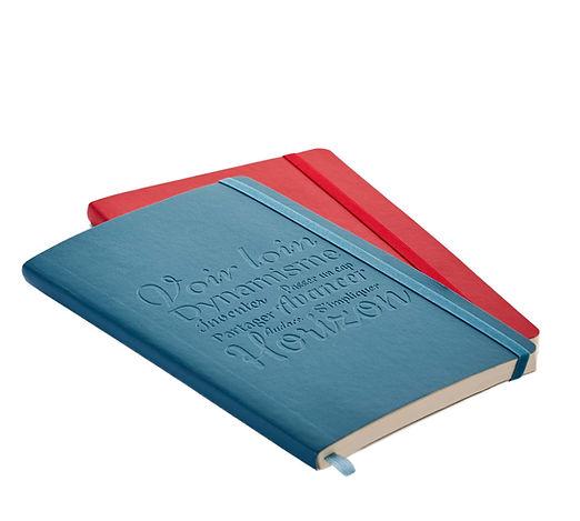Geprägtes Notizbuch - Veredelung durch Notizgold
