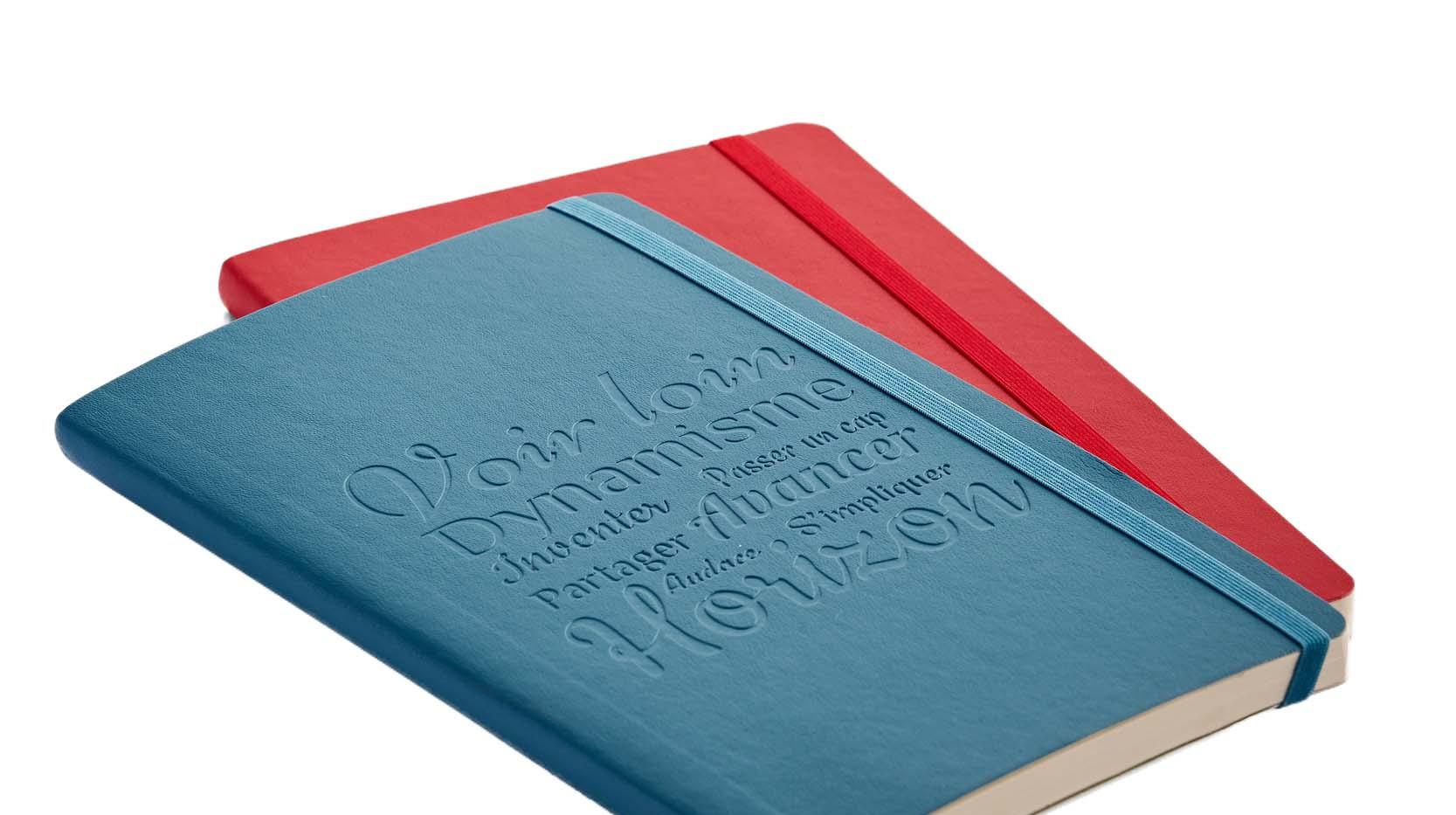 Blindprägung zur Veredelung der Notizbücher - Notizgold