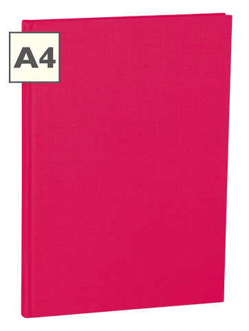A4 Notizbuch von Semikolon in der Farbe Pink