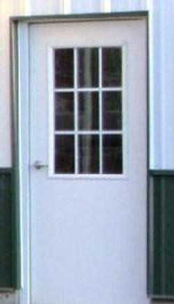 Walk Door with window grids
